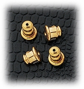 Jewelry Components Gold Bullet Backs - 2 Pair