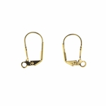 Jewelry Components Gold euro clasp lever back With Ring - 1 Pair