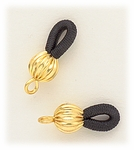 Jewelry Components Gold Eyeglass Holder Loops 1 Pair