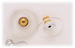 Jewelry Components Gold Flanged Bullet Backs - 1 Pair