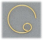 Jewelry Components Gold open round ear wire 1 pair