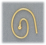 Jewelry Components Gold oval French hook with 2mm ball 1 pair