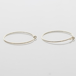Jewelry Components Gold round ear wire 1 pair