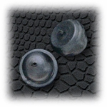 Jewelry Components Rubber pin clasps - 1 Pair