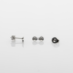 Jewelry Components silver 2 pair 4mm over 5mm pearl cups