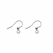 Jewelry Components silver French hook with 2mm ball 1 pair