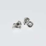Jewelry Components Stainless Steel Bullet Backs - 2 Pair