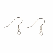 Jewelry Components Stainless Steel French hook wire with ball - 1 Pair