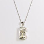 necklace 24 inch silver rope antique silver and gold magnetic prayer box