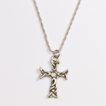necklace antique silver Celtic knot cross 24 inch rope necklace