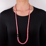 Necklace dyed pink Heishi