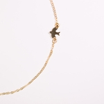 necklace gold 16 inch with small dove and 2 inch extender