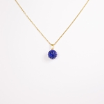 necklace gold 18 inch blue fireball