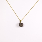 necklace gold 18 inch hematite fireball