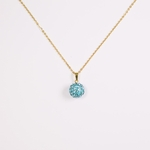 necklace gold 18 inch turquoise fireball