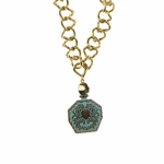 necklace gold 30 inch necklace with aqua bottle drop
