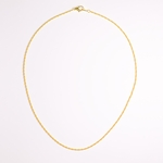 Necklace Gold Thin Rope Chain 18 inch