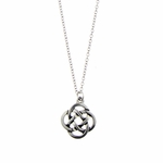 necklace silver 20 inch chain with antique silver Celtic knot