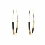 pierced earring gold flat wire 1 5/8 inch hoop