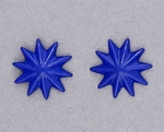 pierced earring posted stainless steel bright blue asterisk