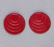 pierced earring posted stainless steel step circle red