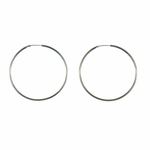 pierced earring silver 1 and 1/2 inch endless hoop