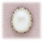 pierced Earring silver posted ace setting with pearl