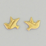 Pierced earrings Gold Dove