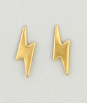 pierced earrings Gold posted Lightning bolt
