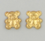 pierced earrings Gold posted Teddy Bear