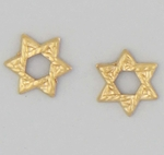 Pierced earrings Gold Star of David small