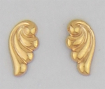 Pierced earrings Gold Wave Tiny