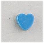 pierced earrings posted blue heart