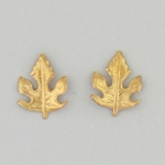 pierced earrings posted tringles gold maple leaf
