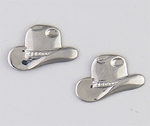 Pierced earrings Stainless Steel Cowboy hat