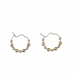 Pierced earrings Stainless Steel Hoop continuous wire with beads