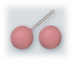 pierced earrings Stainless Steel posted ball 7mm Rose