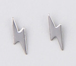 pierced earrings Stainless Steel posted Lightning bolt