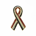 Pin red white and blue ribbon