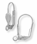 Stainless Steel euro clasp lever back Ring - 1 Pair
