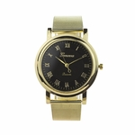watch gold black face Roman numerals