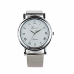 watch silver white face Roman numerals