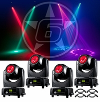 ADJ (4) Vizi Beam RXONE Moving Head Package
