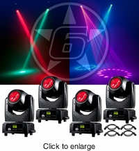 ADJ (4) Vizi Beam RXONE Moving Head Package - click to enlarge
