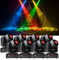 ADJ (8) Inno Pocket Spot Moving Head Package