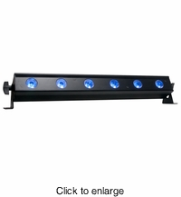 ADJ UB 6H 1/2-meter Linear fixture with six 10 Watt HEX (RGB: 6-IN-1) LEDs - click to enlarge