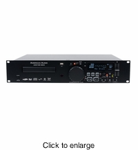 """AMERICAN AUDIO UCD-100MKIII 19"""" Single CD and USB Player. Jog Wheel, XLR Outputs, ID3 Tags, Record feature on USB. - click to enlarge"""