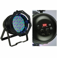 AMERICAN DJ 64B LED PRO Professional black DMX LED Par 64. (181) high powered 10mm LED's. RGB color mixing.
