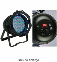 AMERICAN DJ 64B LED PRO Professional black DMX LED Par 64. (181) high powered 10mm LED's. RGB color mixing. - click to enlarge