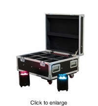 AMERICAN DJ ELEMENT FC Flight case, holds 8 x Element pars, PC100A charging system - click to enlarge